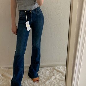 BNWT mih mid rise kick flare jeans